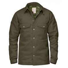 The warm and comfortable Down Shirt Jacket No.1 by FJALLRAVEN for men is made from durable G-1000® Eco in recycled polyester and organic cotton. This shirt-jacket is equipped with a pliant polyamide lining and padded with high-quality down. The Down Shirt Jacket ... #outdoorshirts