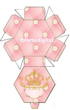 kit digital para festa infantil tema realeza cores rosa bebê e dourado   Olá!!!  Atendendo a pedido, disponibilizo para você o kit realeza r...
