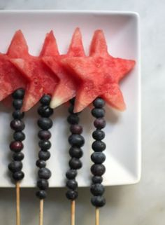 Fruity magic wands, great for a magic themed birthday party!
