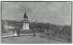 George Loring Brown, the Public Garden, Boston, 1869 or after.