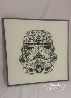 Courtice, Ontario Canvas Crafts, Canvas Art, Canvas Ideas, Cuadros Star Wars, Sugar Skull Decor, Skull Pillow, Sugar Skull Tattoos, Star Wars Baby, Learn To Paint