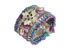 Ibiza chic friendship bracelet dangle cuff with by OOAKjewelz