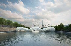#Paris #trampoline #bridge plan by #AtelierZundelCristea
