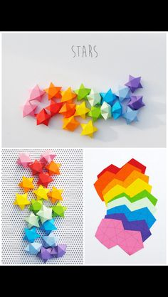 Stars Origami Lucky Star, Origami Stars, 3d Origami, Origami Paper, Origami Estrela, Rolled Paper, Folded Paper Stars, Girls Camp, Star Template
