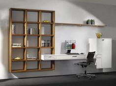 Nice, filled with books. Study Room Design, Study Nook, Diy Corner Shelf, Interior And Exterior, Interior Design, Tv Unit Design, Office Walls, Wall Storage, Shelving