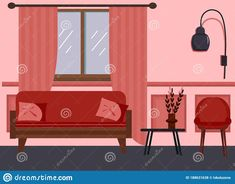 Illustration about The interior of the living room. Vector illustration. Sofa with pillows, a chair and a table, a lamp. Illustration of armchair, house, lamp - 188631638 Living Room Interior, Living Room Furniture, Living Room Vector, House Lamp, Interior Sketch, Sofa Pillows, A Table, Armchair, Illustration