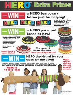 A sneak peek at our exciting new daily incentive program for 2015. Make your students HEROes this year!