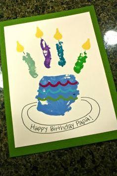 Happy Birthday. Karte einfach mit Kindern zu basteln.