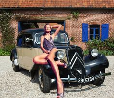 TRACTION My Dream Car, Dream Cars, Vintage Cars, Antique Cars, Car Places, Move Car, Citroen Traction, Traction Avant, Citroen Car