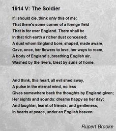 1914 V: The Soldier Poem by Rupert Brooke - Poem Hunter