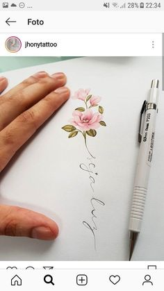 Flowers drawing ideas fun ideas Flowers will be the major issues that give you Pink Rose Tattoos, Dainty Tattoos, Pretty Tattoos, Love Tattoos, Beautiful Tattoos, Small Tattoos, Tattoos For Women, Tatoos, Mommy Tattoos