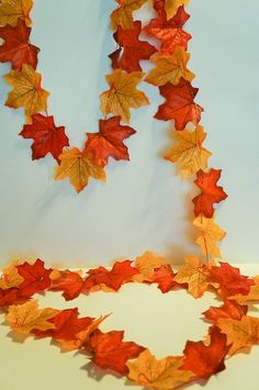 Who doesn't love a cute garland? This is a simple craft that children of all ages can make and enjoy. We used a bag of silk fall leaves, but this project can be made with real leaves gathered from the yard. There are also felt leaves or paper leaves that would work too!