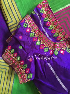 Saree Jacket Designs, Simple Blouse Designs, Stylish Blouse Design, Blouse Designs Silk, Designer Blouse Patterns, Bridal Blouse Designs, Mirror Work Blouse Design, Kutch Work Designs, Maggam Works