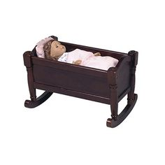 Vintage Cass Company Wood Doll Cradle Bed 36 00 Via