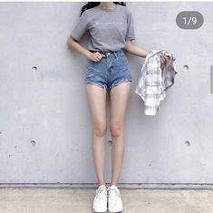 Which your favorite outfit: 1 2 or - Body Goals Korean Outfits, Short Outfits, Outfits For Teens, Girl Outfits, Casual Outfits, Cute Outfits, Fashion Outfits, Korean Fashion Trends, Korean Street Fashion