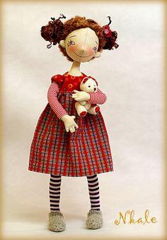 by Elena Voinatovskaya Doll Toys, Baby Dolls, Sewing Dolls, Child Doll, Soft Dolls, Diy Doll, Cute Dolls, Fabric Dolls, Handmade Toys