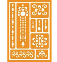 FolkArt ® Handmade Charlotte™ Peel & Stick Stencils - Jewels and borders | Plaid Enterprises - available to buy in-store at major craft retailers #crafts #plaidcrafts