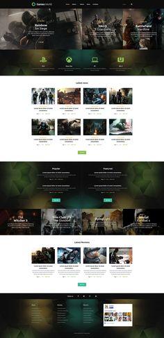 #Game #Portal Joomla Template http://www.templatemonster.com/joomla-templates/53859.html?utm_source=pinterest&utm_medium=timeline&utm_campaign=53859