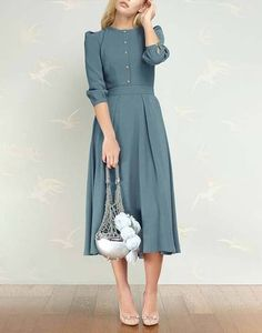 Lovely Dresses, Modest Dresses, Trendy Dresses, Modest Outfits, Simple Dresses, Modest Fashion, Elegant Dresses, Hijab Fashion, Vintage Dresses