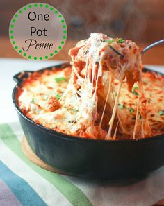 From Calculu∫ to Cupcake∫ | One Pot Penne | http://www.fromcalculustocupcakes.com