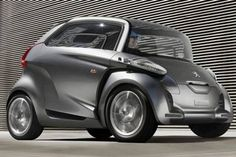 Peugeot BB1 - The Future Electric Micro Car designed, Like the idea of a micro 4 seat car, but the shape is too weird for my taste.