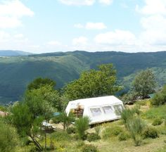 Best glamping views ever! Overlooking the Serra da Cabreira, Alvao, Marvao and Geres mountains in North Portugal
