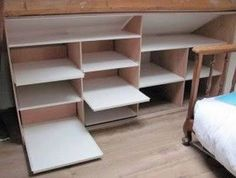First-rate Attic knee wall storage,Attic storage pods and Attic heirlooms bedroom. Small Attic Room, Attic Rooms, Attic Spaces, Attic Bathroom, Master Bathroom, Bathroom Ideas, Attic Organization, Attic Storage, Wall Storage