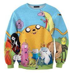 2014 Women Sweatshirts New Adventure Time Shirts Tracksuits Punk Cartoon Hoodies #King #Fashion