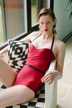 Swimsuit with Ilvie Wittek Swimsuits, Bikinis, Swimwear, Veronica, Retro, Fashion, One Piece Swimsuits, One Piece Swimsuits, Moda