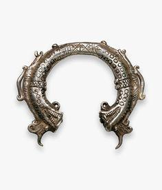 Northern Laos | shaman bracelet from Phongsali Province | Silver | ca. 18th century