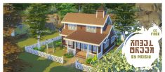 Hazel Creek House by Meisiu • § 92,171 | 3 bed 1 bath | 30 x 20 • A medium sized home that is pet friendly • Built on the Dachshunds Creek lot in Brindleton Bay EA ID: vicky1qa | Tray files | Donate?