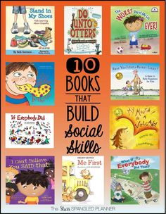 10 Books that Build Social Skills (plus other community read aloud book lists) Teaching Social Skills, Social Emotional Learning, Teaching Reading, Reading Lists, Teaching Kids Manners, Emotional Books, Social Skills Autism, Social Skills Lessons, Social Skills For Kids