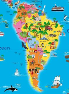 World Map political for Kids small size - Maps for Kids - Geo Kids World Montessori Art, Montessori Elementary, Kids Geo, Continents And Countries, South America Map, Kids World Map, Maps For Kids, Kids Study, Teacher Memes