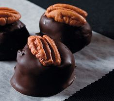 """""""A Christmas candy rooted in its place."""" // Kentucky Bourbon Balls // via Phillips Ohio Valley Yummy Treats, Delicious Desserts, Sweet Treats, Yummy Food, Candy Recipes, Holiday Recipes, Dessert Recipes, Holiday Treats, Top 10 Desserts"""