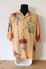HAWAIIAN SHIRT mens floral tee HIPSTER trendy holiday BRIGHT VINTAGE Festive XL