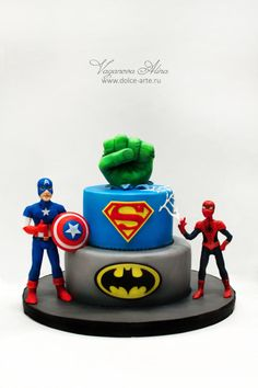 superheroes birthday cake - Cake by Alina Vaganova