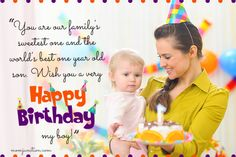 106 Wonderful Birthday Wishes And Messages For Babies Happy 1st Birthday Wishes, First Birthday Cards, Happy 1st Birthdays, Happy Birthday Images, Funny Birthday, Birthday Cake, Message To My Son, Birthday Message To Myself, Birthday Wishes For Myself