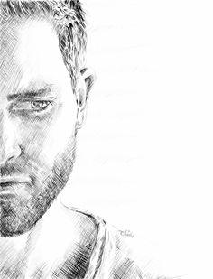 Derek by Alex-Soler on DeviantArt Wolf Drawing Easy, Guy Drawing, Derek Hale, Portrait Sketches, Portrait Art, Dylan O'brien, Teen Wolf Fan Art, Teen Wolf Derek, Epic Drawings