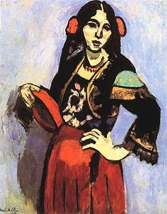 Spanish Woman with a Tambourine 1909:  Matisse