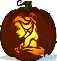 Belle pumpkin pattern - Beauty and the Beast