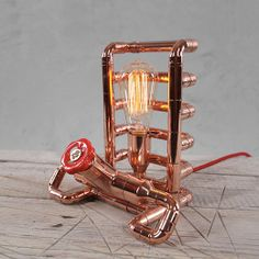 TENDO Copper Table Lamp by Zapalgo on Etsy, $326.00