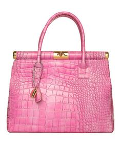 Take a look at this Fuchsia Alessandria Tote by Made in Italia on #zulily today!