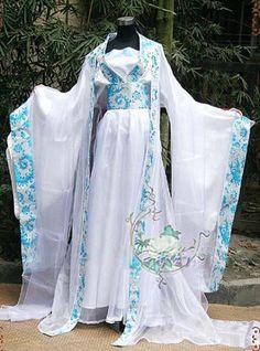 Chinese Fairy's HanFu Light Blue Cosplay Kimono Dress