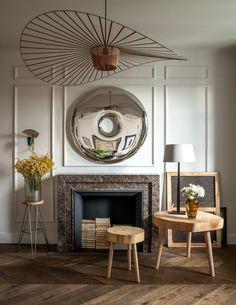 Our RONDO mirror in amazingly designed interior in Warsaw!  proj.: Marta Chrapka, Colombe Design; fot.: Rafał Lipski