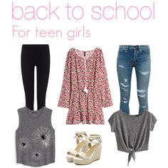 back to school outfits for teen girls by aubreykitchen on Polyvore featuring polyvore mode style H&M MANGO Yves Saint Laurent James Perse