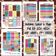 Autumn Spice Kit! | Free printable planner stickers from plannerproblem101.com! Download for free at https://plannerproblem101.com/