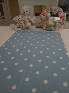 BN Lovely Cath Kidston Haberdashery Cotton Remnant In A Soft Blue Spot