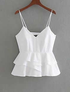 Women's Cute Cotton Slim Tank Top - Solid Colored Strap Off Shoulder Girls Fashion Clothes, Girl Fashion, Fashion Outfits, Girly Outfits, Casual Outfits, Como Fazer Short, Beautiful White Dresses, Really Cute Outfits, Stylish Mens Outfits