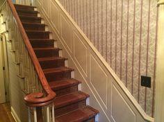 Custom woodwork on stairs