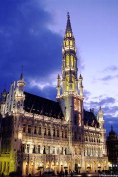 Hôtel de Ville de Bruxelles, Grand-Place, Bruxelles, Belgique (Brussels Town Hall, Belgium)